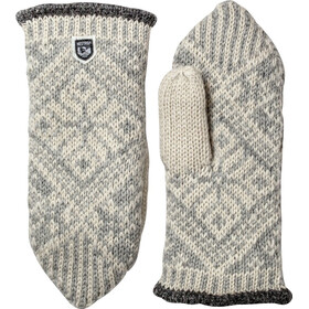 Hestra Nordic Wool Wanten, grey/off-white